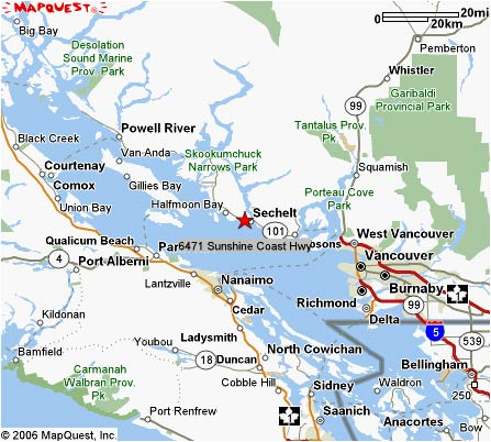 Map Of Sunshine Coast Bc Map and Directions to our Oceanfront Suite Accommodations in  Map Of Sunshine Coast Bc