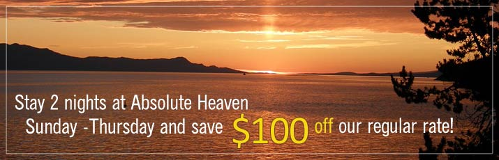 Absolute Heaven Midweek Getaway Special